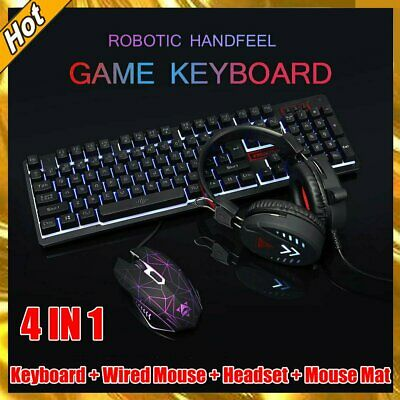 AU35.89 • Buy Gaming Keyboard Mechanical Keyboard And Wired Mouse Headset Four-piece Set AU