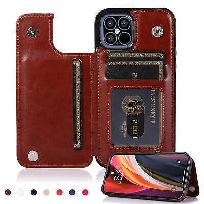 AU11.56 • Buy Leather Wallet Case For IPhone 11 12  Pro Max XS XR 8 7 6S Flip Stand Card Cover