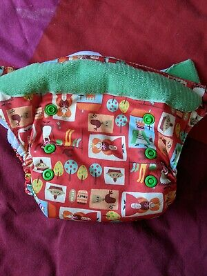 View Details Tots Bits Easy Fit Four And Twenty Blackbirds Cloth Real Nappy Diaper • 5.00£