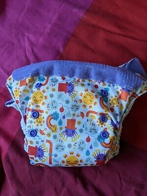 View Details Tots Bots Easy Fit V4 Incy Wincy Spider Cloth Real Nappy Diaper • 5.00£