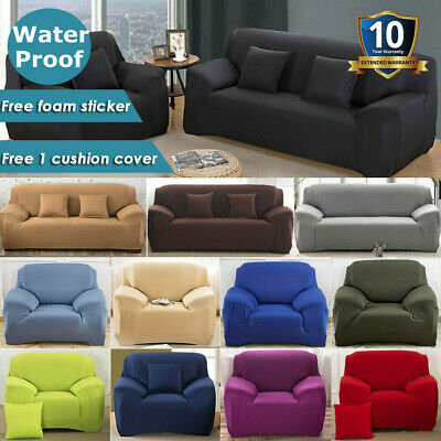 AU11.99 • Buy Sofa Cover Couch Covers 1 2 3 4 Seater Slipcover Lounge Protector High Stretch