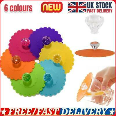 £5.76 • Buy 3X Silicone Cup Lid Glass Drink Cover Anti-dust Coffee Mug Suction Seal Lid Caps