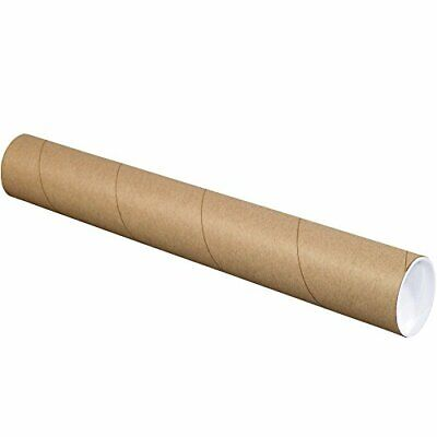 $61.49 • Buy BOX USA BP3012K Mailing Tubes With Caps 3  X 12  Kraft Pack Of 24