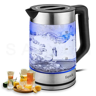 £13.69 • Buy Electric Kettle  Blue LED Illuminating 360 Cordless Stainless Steel 1.8L 2200W