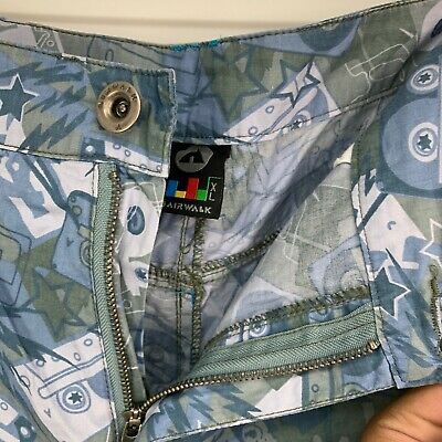 £9.99 • Buy AirWalk Blue Patterned Mens Cargo Shorts With Pockets Button Fly Size XL W38 L11