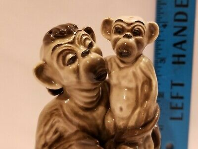 $5.95 • Buy Ceramic Arts Studio Madison Wisc. Monkey And Baby Salt And Pepper Shakers VTG.