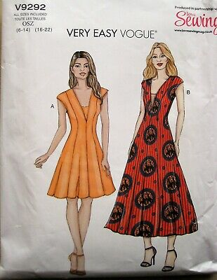 £1.95 • Buy Very Easy Vogue   Sewing Pattern  For  A Ladies  Dress       6-22