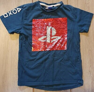 £0.99 • Buy NEXT - Boys 2 Way Sequin PLAYSTATION T-Shirt Top Age 6 Years VGC