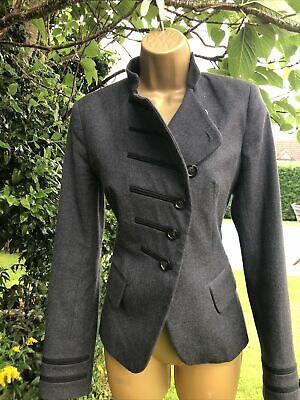 £11.40 • Buy French Connection..Wool Grey Jacket/Blazer Size 10  Military Style