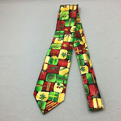 $19.97 • Buy Jerry Garcia Mens Neck Tie Pointed 100% Silk Surprise Package Christmas 60 X 3.2
