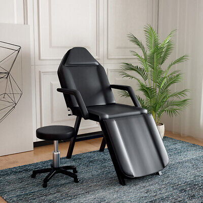 £62 • Buy Black Beauty Salon Massage Bed Chair + Stool Tattoo Therapy Table Recliner UK