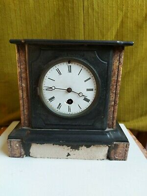 £42 • Buy Antique Marble Slate Mantel Mantle Clock French By A.M.A