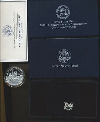 $39 • Buy Us Mint 2002 West Point Military Academy Commemorative Proof Silver Dollar Coin