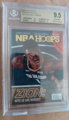 $75 • Buy 2020 21 Hoops Rookie Special Spec#1 Zion Williamson RC BGS 9.5 Gem Case Cracked
