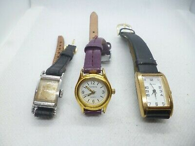 £1.99 • Buy Job Lot Of  Three Ladies Watches For Spares Or Repair 6.