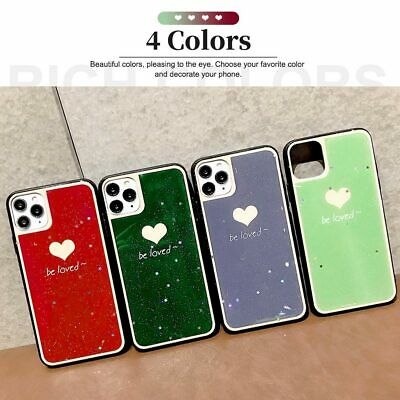 AU8.28 • Buy Case For IPhone 11 12 Pro X XR XS Max 8 7 6s Soft Shiny Glitter Love Heart Cover