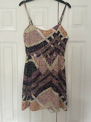 £4 • Buy H&m Floral Cut Out Strappy Summer Dress Size 10