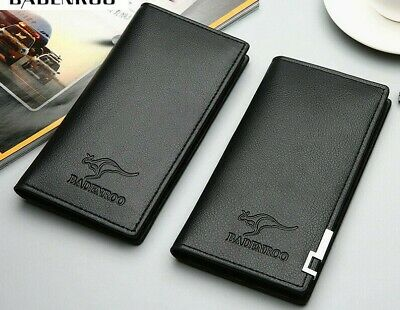 AU9.99 • Buy Premium Mens Women Leather Long Purse ID Credit Card Wallet Coin Holder
