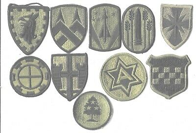 $7 • Buy Lot Of 10 Different U.s. Military Patches  (mp 4564)
