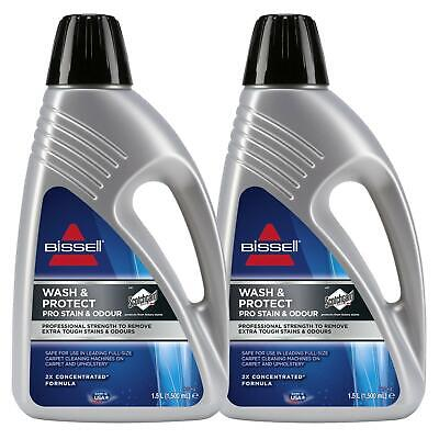 £34.99 • Buy 2 X Bissell Wash & Protect Pro Carpet Cleaner - 1.5L Concentrated Formula