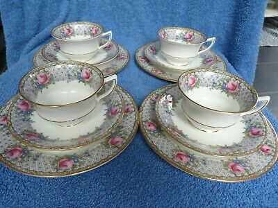 £12.50 • Buy Very Fine Antique Aynsley Bone Chine Pink Roses 12 Piece Tea Set. Perfect