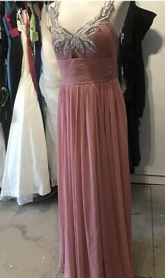 £15 • Buy Dynasty London Pink Sequin Prom Elegant Pagent Dress Size 14