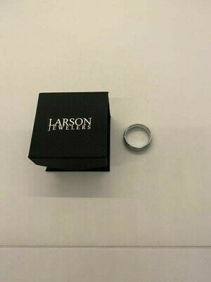 $14.99 • Buy Larson Jewelers Mens Silver Comfort Fit Tungsten Carbide Band Ring SIZE UNKNOWN