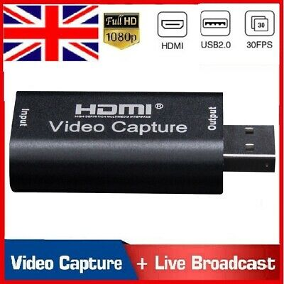 £13.98 • Buy HDMI To USB Video Capture Card 1080P Recorder Phone Game Video Live Streaming UK