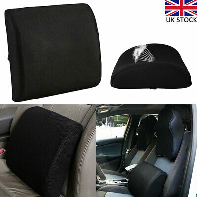£10.61 • Buy Car Memory Foam Wedge Seat Chair Lumbar Support Cushion Back Pain Height Booster