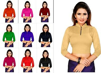 £9.93 • Buy Lycra Stitched Full Sleeve Blouse Indian Designer Wedding Wear Saree Blouse Top