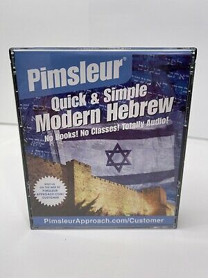 £14.49 • Buy Pimsleur Quick & Simple Modern Hebrew 4 CD Set 8 Lessons No Books Needed VGC