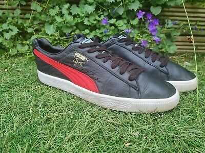 £28 • Buy Puma Clyde Uk 10.5 Black Red Leather Trainers