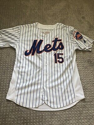 $0.99 • Buy Men's Majestic MLB #15 Tim Tebow New York Mets Jersey Size Large