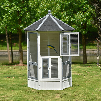£209.99 • Buy Bird Aviary House Cage For Budgie Canary Cockatiel Indoor Outdoor 125x125x183cm
