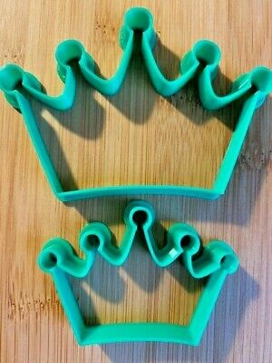 £2.95 • Buy Set Of 2 X CROWN - PRINCESS QUEEN ETC Cookie Or Fondant Cutters Icing Cake