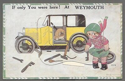 £6.85 • Buy Vintage Novelty Postcard If Only You Were Here! At Weymouth. Chloe Preston, 1931