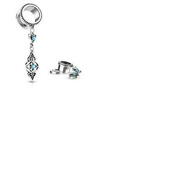 £5.50 • Buy Turquoise Tribal Charms Dangle Surgical Steel Screw Fit Flesh Tunnel Plug