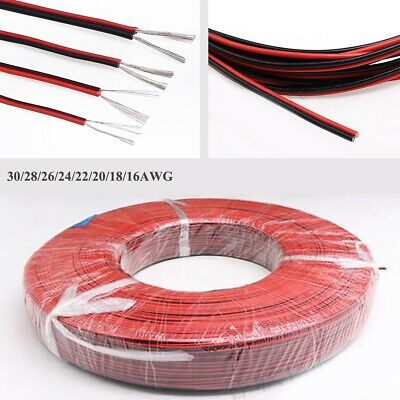 £1.65 • Buy UL2468 2-Core Stranded Electronic Wire 16~30AWG Red & Black Flat Ribbon Cable