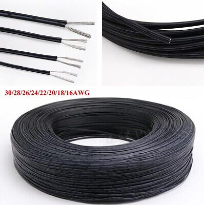 £1.65 • Buy UL2468 2-Core Stranded Electronic Wire 16~30AWG Black & White Flat Ribbon Cable