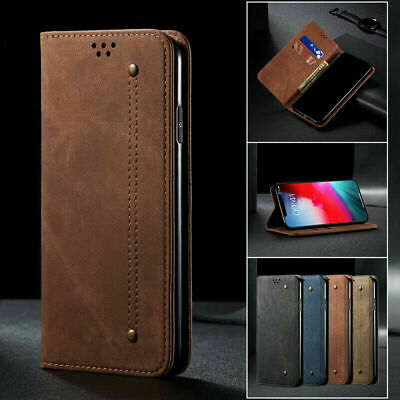 AU13.79 • Buy For IPhone 12 11 Pro Max Mini XS XR 8/7/SE Case Leather Wallet Card Flip Cover