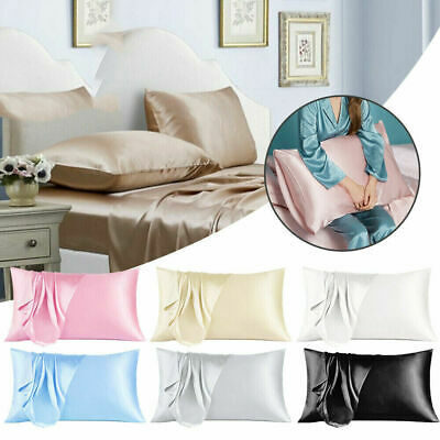 AU6.99 • Buy Pure Silk Pillowcase Satin Pillow Cases Cushion Covers Home Decor Bed Bedding