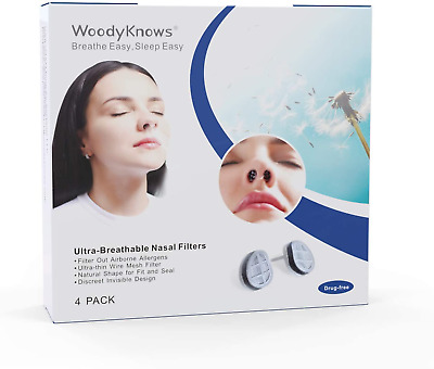 £16.64 • Buy WoodyKnows Ultra-Breathable Nasal Filters Narrow, Combined Trial Pack, 4 Pack