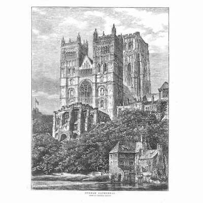 £12.95 • Buy DURHAM CATHEDRAL - Antique Print 1873