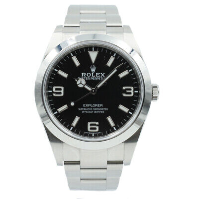 $ CDN13354.03 • Buy Rolex Explorer 214270 B&P '18 Stainless Steel With Black Dial 39mm