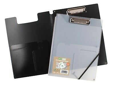 £3.75 • Buy Eco Eco A5 50% Recycled Clipboard Folder With Metal Clip Black Clear Home Office