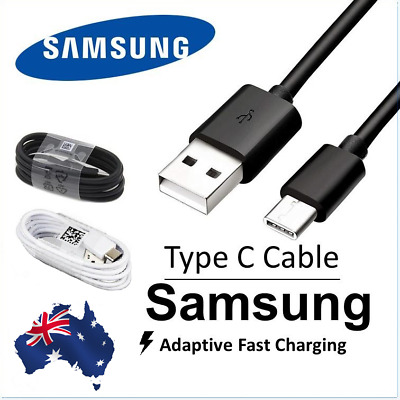 AU3.99 • Buy Type C Cable For Genuine Samsung S10 S9 8 Plus Note 9 10 USB C Fast Charging