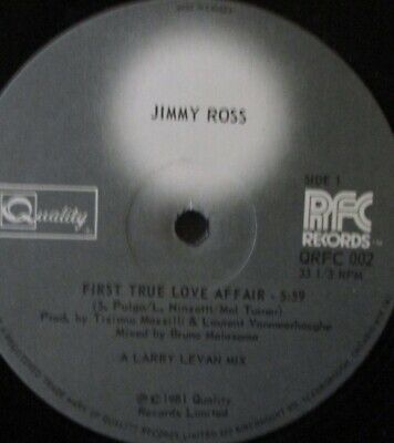 £17.99 • Buy JIMMY ROSS - First Time Love Affair ~ 12  Single CANADIAN PRESS