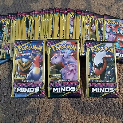 $6.99 • Buy Pokemon Sun & Moon Unified Minds 3 Card Mini Booster Pack Lot 3 Packs ☆Unweighed