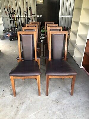 AU400 • Buy Hardwood And Leather Dining Chairs