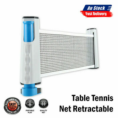 AU15.68 • Buy NEW Retractable Table Tennis Net Portable Ping Pong Replacement Net Rack